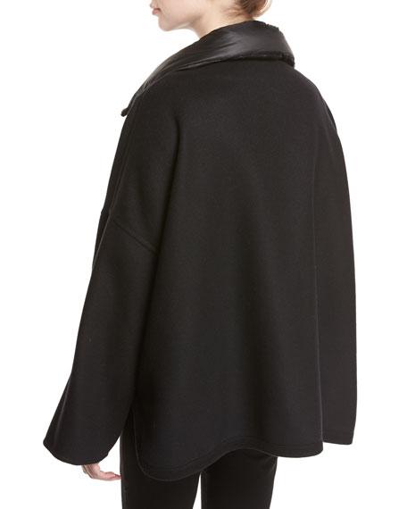 Maho Poncho Jacket, Black