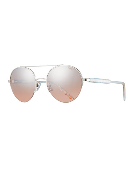 SUPER Cooper Onice Aviator Sunglasses in Blue