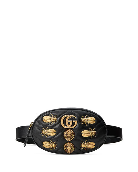 44e4a3994e86 Gucci Small GG Marmont 2.0 Bug Belt Bag