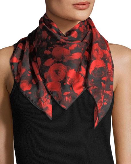 Roses Silk Twill Scarf