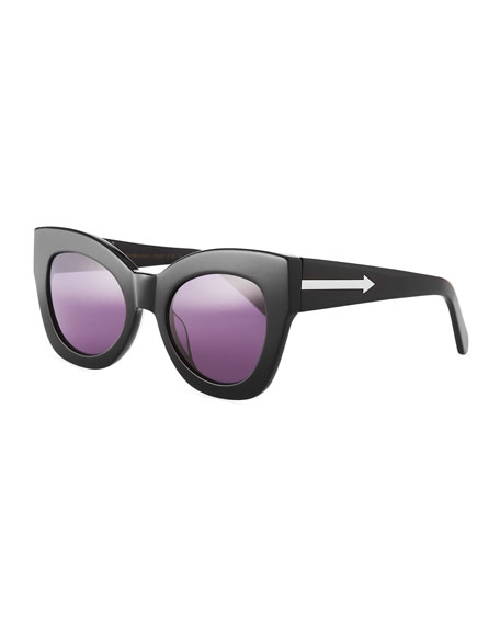 Karen Walker NORTHERN LIGHTS CAT-EYE SUNGLASSES