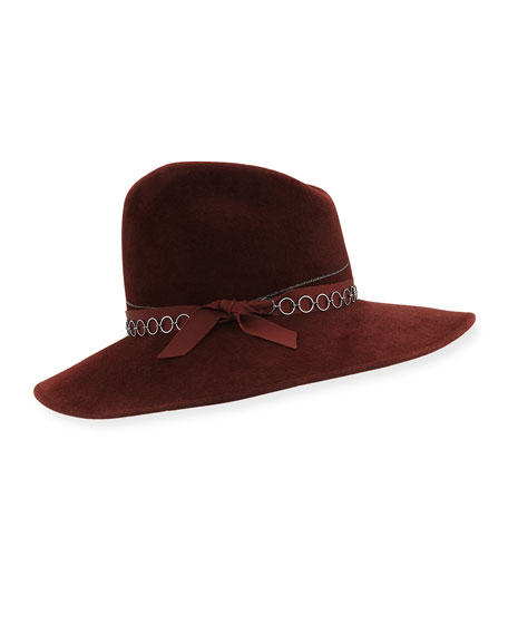 Drake Fedora Hat w/ Chain Link & Bow