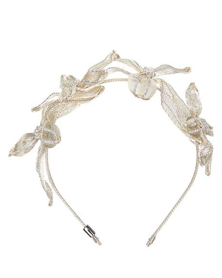 Mesh Crystal Botanical Headband