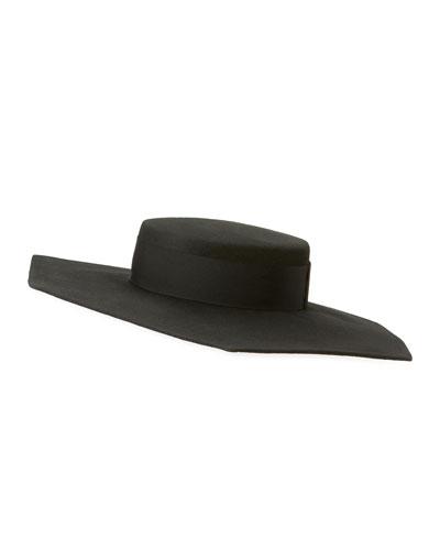 Atlas Geo Wool Boater Hat
