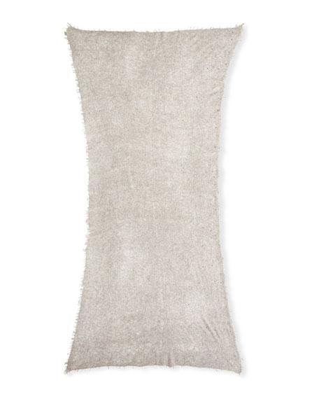 Scattered Sparkle Frame Cashmere Stole, Light Gray