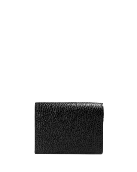 Linea Farfalla Leather Card Case with Butterfly