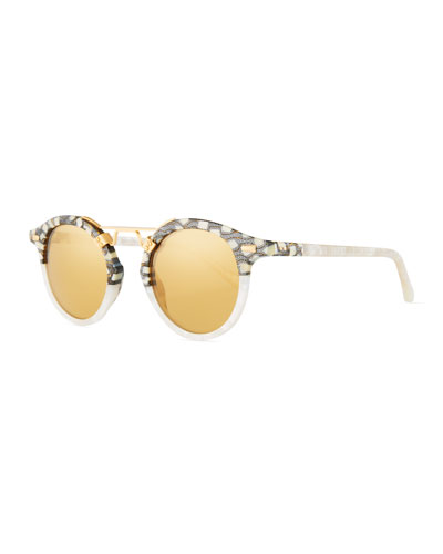 STL II Two-Tone Mirrored Sunglasses