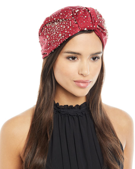 Full Turban w/ Scattered Crystals