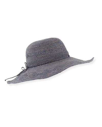 Cammile Raffia Sun Hat, Blue