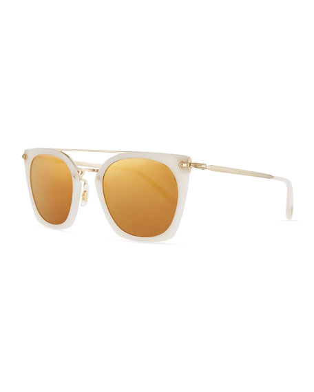 Image 1 of 1: Dacette Mirrored Cat-Eye Sunglasses