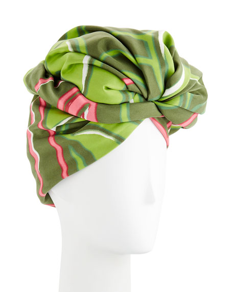 Graphic Flower Pattern Turban
