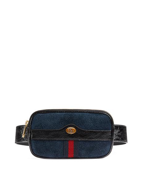 cca329de1a5 Gucci Ophidia Mini Suede Phone Belt Bag