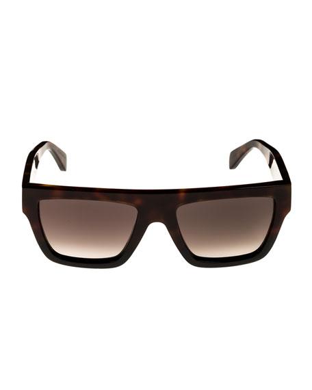 Bold Flattop Acetate Sunglasses