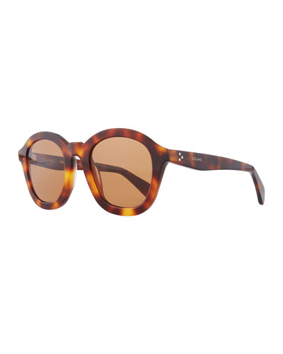 Round Acetate International-Fit Sunglasses
