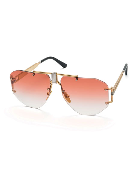 Celine Rimless Gradient Aviator Sunglasses
