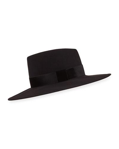 f67dbfcf9a2 Harlowe Wool Panama Hat w  Velvet Ribbon Quick Look. Eugenia Kim