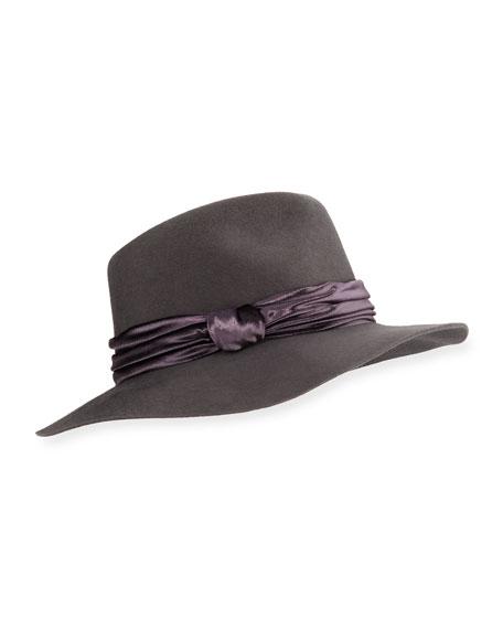 33fe1a4fb7492 Eugenia Kim Georgina Wool Fedora Hat w  Panne Velvet Trim