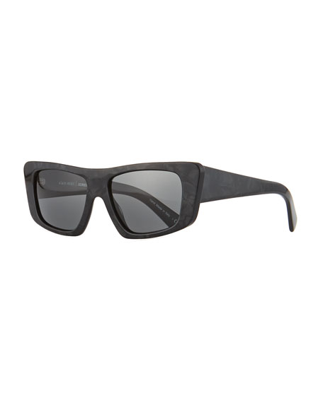 Image 1 of 1: Rectangle Monochromatic Acetate Sunglasses