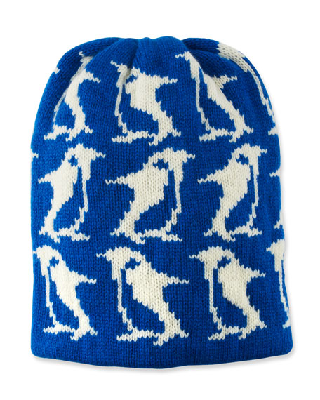 Moncler Grenoble WOOL-CASHMERE PENGUIN-INTARSIA BEANIE HAT