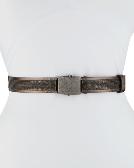 Metallic Lamb Leather Belt