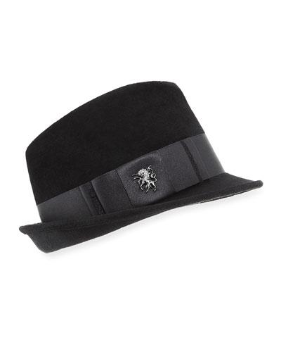 Velour Trilby Hat