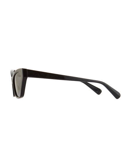 Le Matin Acetate Cutoff Cat-Eye Sunglasses