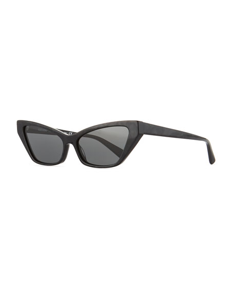 Image 1 of 1: Le Matin Acetate Cutoff Cat-Eye Sunglasses