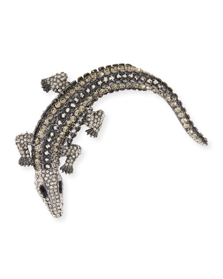 Embellished Alligator Hair Pin