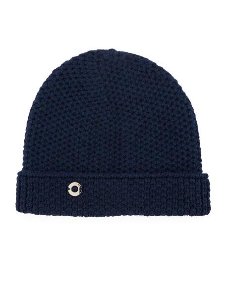 Rougement Chain-Knit Cashmere Beanie Hat