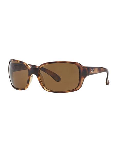 Square Polarized Plastic Sunglasses