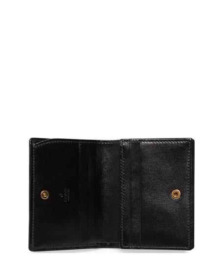 Trapuntata Leather Flap Card Case