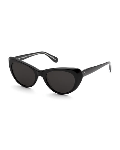 Irma Cat-Eye Monochromatic Sunglasses