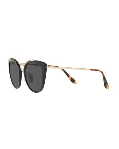 Acetate & Metal Mirrored Cat-Eye Sunglasses