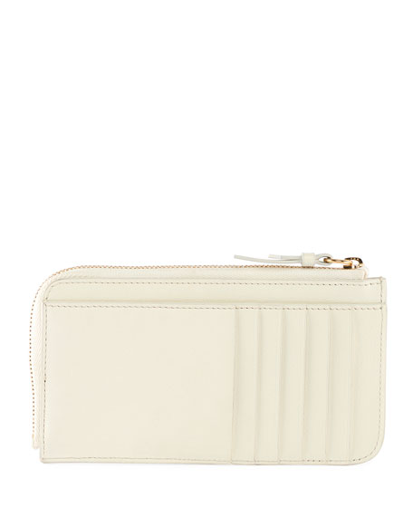 Zip Card Case with Logo and Striping