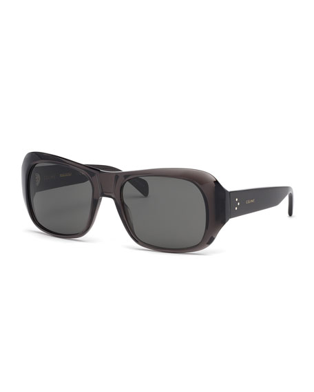Image 1 of 1: Rectangle Acetate Sunglasses