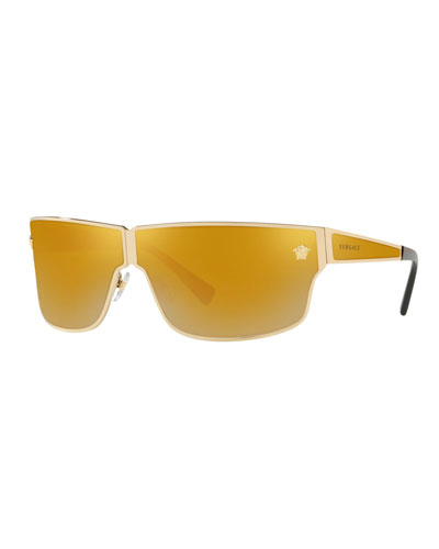 Mirrored Medusa Head Rectangle Sunglasses