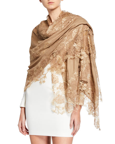 Image 1 of 1: Lace Embroidery Stole