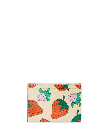 Gucci Zumi Tasty Strawberry Card Case