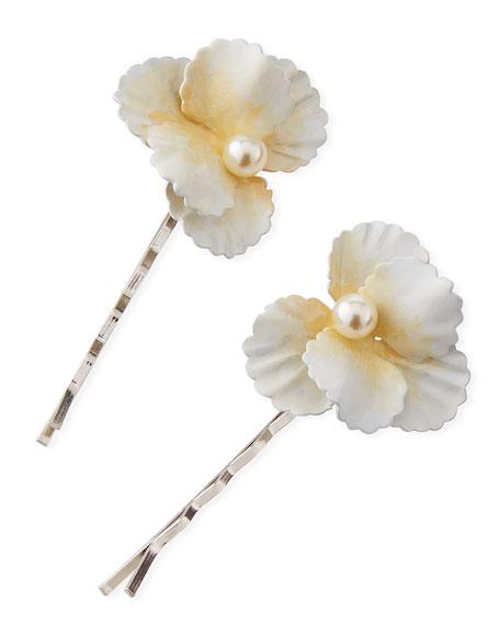Sallie Flower Bobby Pins, Set of 2