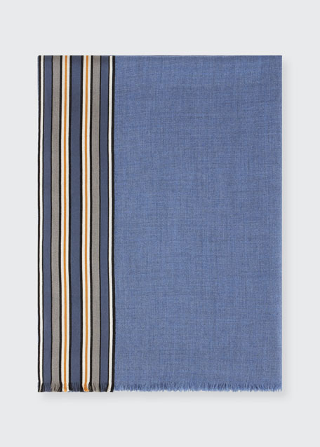Multi-Stripe Fringe Stole