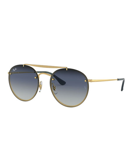 Ray Ban Sunglasses ROUND LENS-OVER-FRAME METAL SUNGLASSES