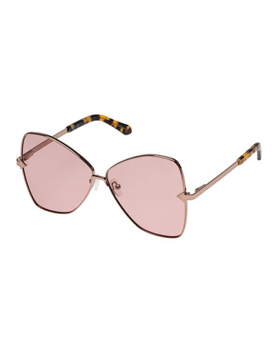 ebc7bb3c27be Queen Metal Butterfly Sunglasses Quick Look. Karen Walker