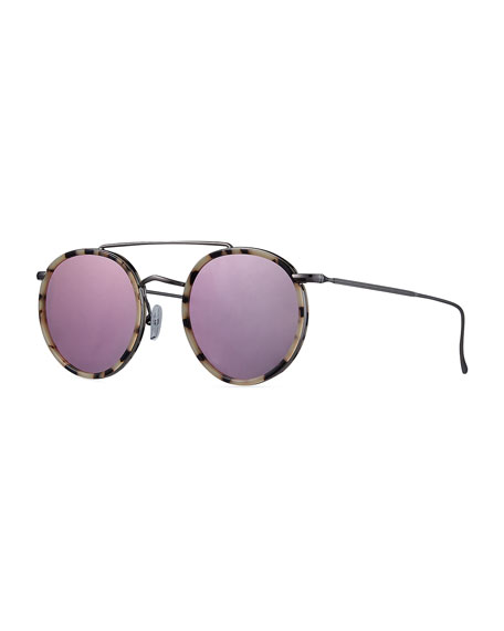 Image 1 of 1: Allen Ace Acetate & Metal Round Sunglasses