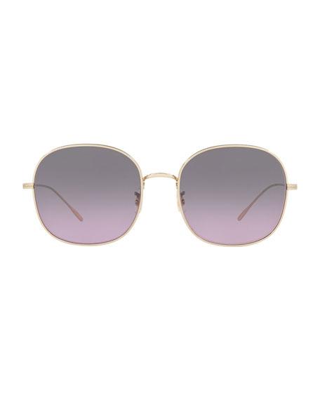 Mehrie Metal Square Sunglasses