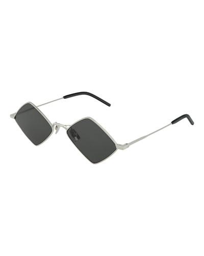 Diamond Shaped Metal Sunglasses