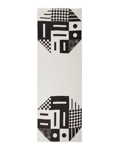 Printed Rectangular Cashmere/Silk Scarf