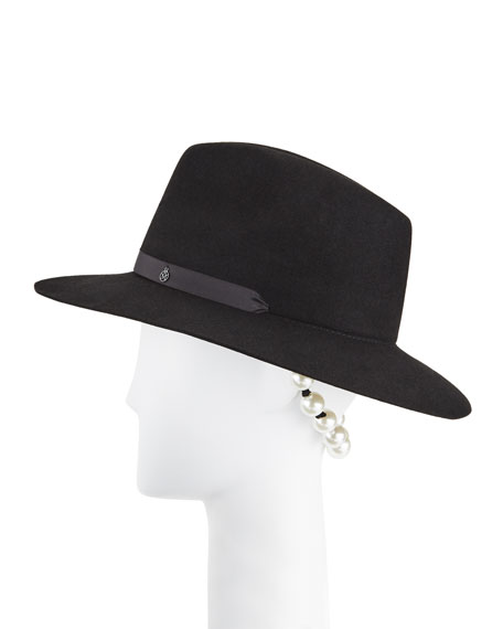 Image 1 of 1: Camila Gangsta Pearls Fedora Hat