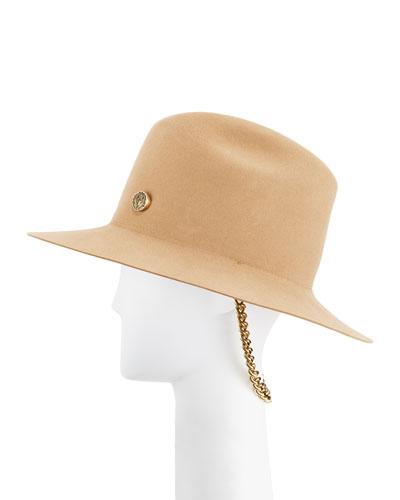 Tylie Signet Ring Rabbit Felt Fedora Hat