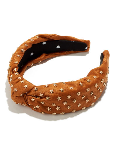 Silk Star Studded Knotted Headband