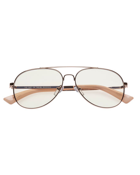 The Fart of the Eel Aviator Blue Light Reading Glasses